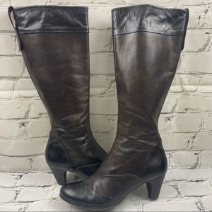 Arnold Churgin two tone brown and black boots
